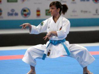 Sandra Sánchez, en la final de kata del Europeo