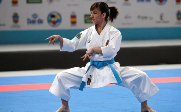 Sandra Sánchez, en la final de kata del Europeo 0 (0)