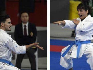 Sandra Sánchez y Damián Quintero, en la final de Salzburgo