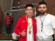 Los talaveranos y hermanos Cuerva, con la selección nacional de Karate