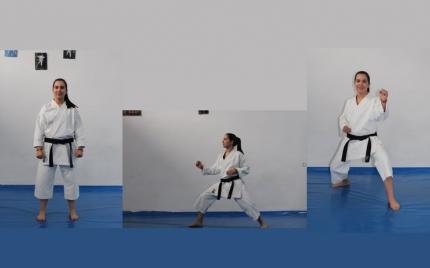 Lorena Serrano ha ganado su primer cinturón negro juvenil de karate con tan solo 15 años