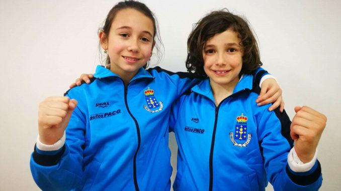 Olalla Míguez y Daríos Basteiro, del Club San Francisco Teo, convocados por la selección gallega de kárate