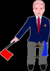 Señalización correcta de penalizaciones de jueces y árbitros