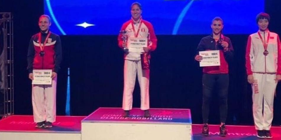 Alexandra Grande consiguió la medalla de oro en el Karate 1 Series A de Montreal