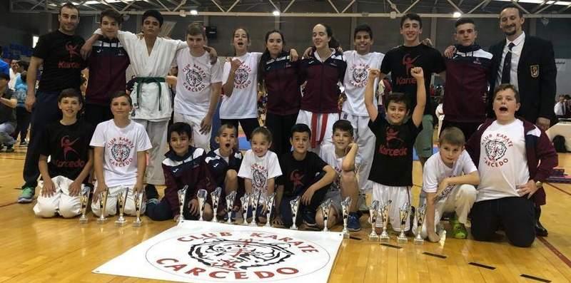 El karate leonés logra 47 medallas en los Campeonatos de Edades de la Junta