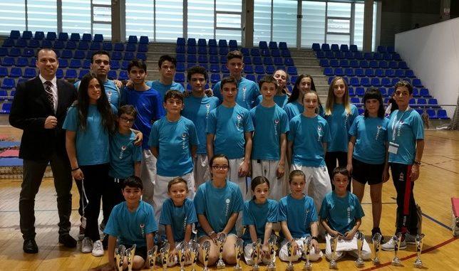 El karate abulense se cuelga 34 medallas en el Regional