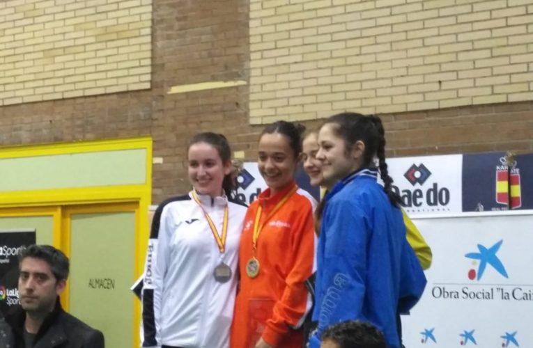 Lucía Herrero subcampeona en la primera prueba de la Liga Nacional de Karate