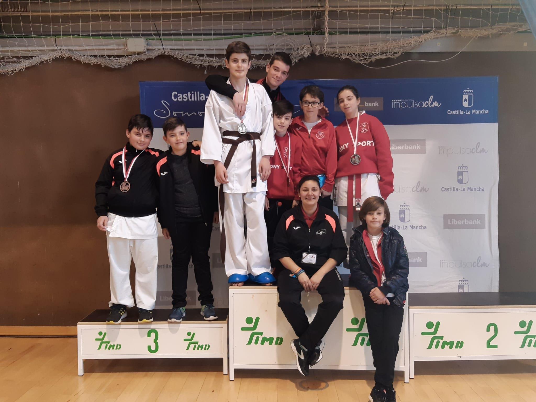 Gran papel del Tony-Sport en el Campeonato de Castilla-La Mancha de Karate Escolar