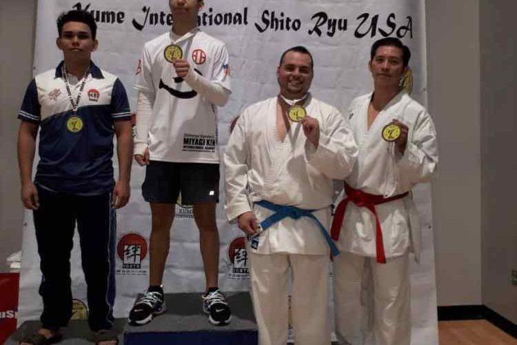 Karatecas salvadoreños destacan el Open IOSTK Kume en Texas, EE.UU.