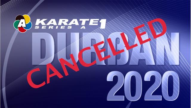 Cancelada la cita de Kárate 1 serie A de Durban por el coronavirus