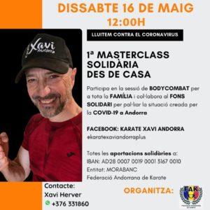 La Master Class Body Combat Solidaria que organiza la Federación Andorrana de Karate llega a las 742 conexiones