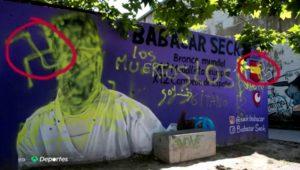 El Ayuntamiento restaura el mural dedicado al karateca Babacar Seck, tras aparecer pintadas racistas