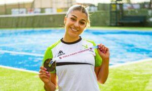 Marta García se esfuerza en recuperar su tobillo lesionado