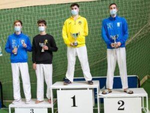 Dónovan Pérez, de la Escuela Municipal de Kárate de Loja, campeón de Andalucía de Kumite júnior