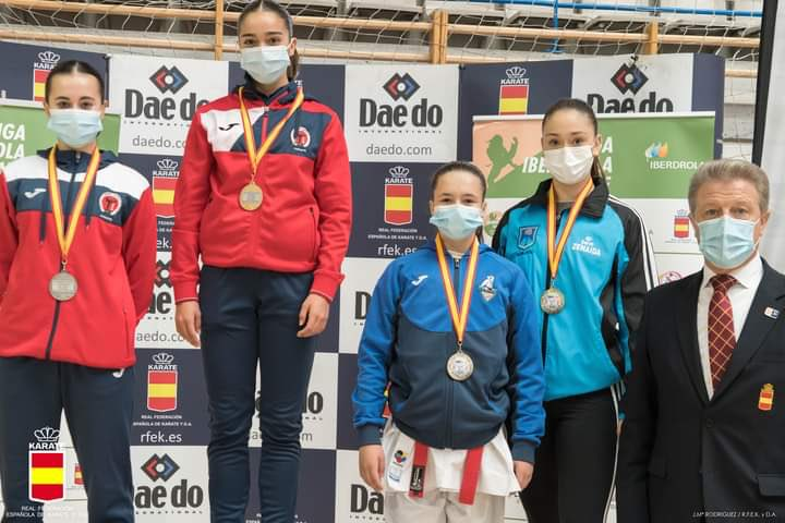 La extremeña Paola García gana la segunda ronda de la liga nacional de kárate