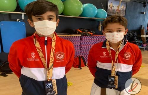 El Poliarrecife se trae dos platas del Campeonato de Canarias de Karate