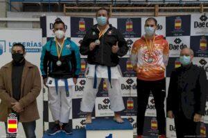 Félix Escribano, del Club Karate Sedaví, medalla de oro en la 2ª Ronda Liga Nacional Parakarate Masculino
