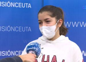 Candela Muñoz y Ángel Domínguez, a sacar algo positivo en la final de la Liga Nacional de Karate