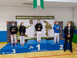 Dos podios para el Mercantil en el Campeonato de Andalucía Infantil de Karate