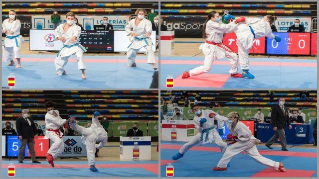Los clubes madrileños se llevan tres oros en el Nacional de karate
