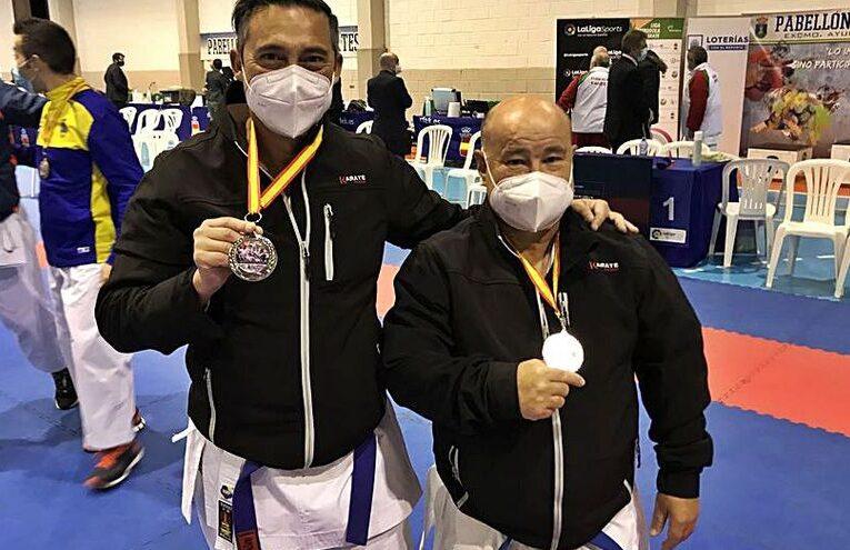Tchey y Martínez subcampeones de España de karate de veteranos