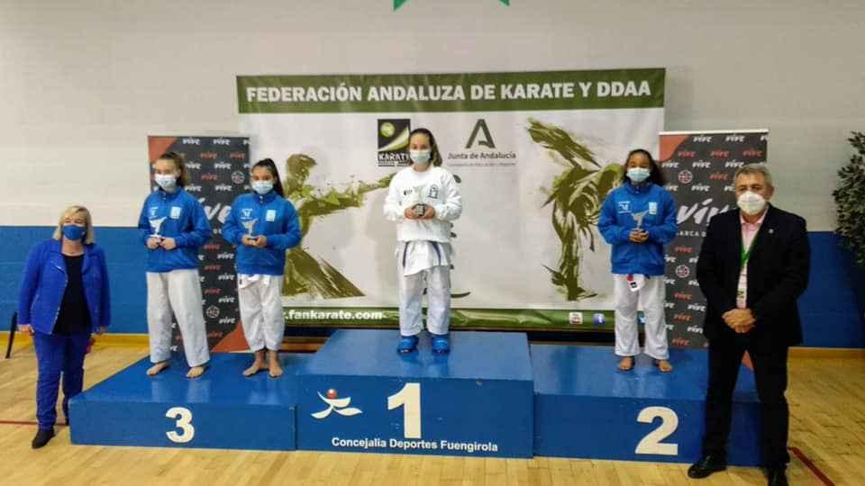 El Shotokan Villoslada se trae tres oros y un bronce del Andaluz infantil de karate
