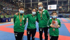 El Kárate Nintai de Águilas consigue tres medallas de bronce en el Campeonato de España