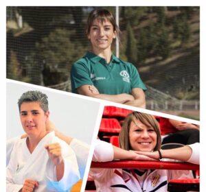 Sandra Sánchez, Irene Colomar y Obdulia Martínez, las tres seleccionadoras del karate español