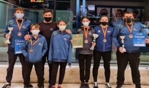 Seis metales y tres grand winner para Físics en la final de la Liga Nacional de Kárate