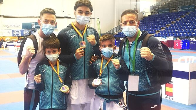 Cinco medallas para el Club Kanku en la final de la Liga Nacional en Málaga 0 (0)