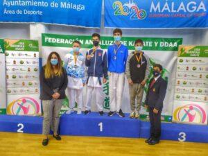 Gonzalo Ruiz y Marko López, bronces en la final de la Liga Nacional de karate