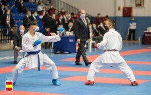 Dos oros y tres bronces para karatecas provinciales en el Campeonato Nacional