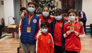 Dos aguileños del Club de Kárate Nintai consiguen el bronce en el Campeonato de España Infantil