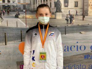La karateca valenciana Noemí Hernández vuelve a triunfar