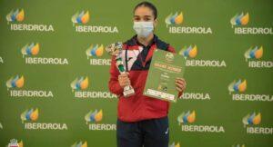 La extremeña Paola García, campeona de la Liga Nacional de Karate y doble corona nacional