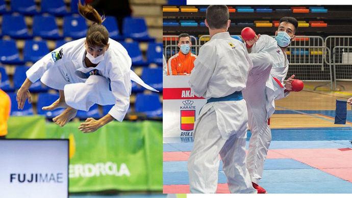 Los talaveranos Raúl Cuerva y Sandra Sánchez, campeones de la Liga Nacional y Liga Iberdrola de Karate