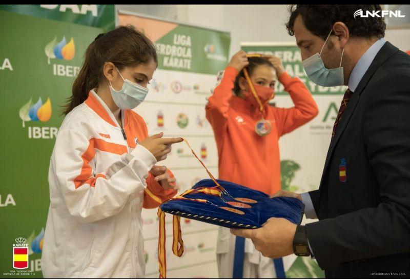 Rubén, Ainara y Nerea se suben al pódium en la Liga Nacional de Kárate