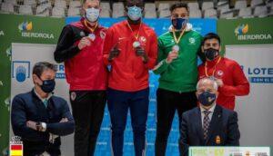El aguileño Achraf Azizi consigue la medalla de bronce en la vuelta de la Liga Nacional Senior de kárate