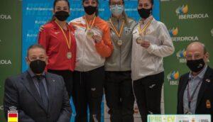 La aguileña Marina Cáceres consigue el bronce en la Liga Nacional de kárate