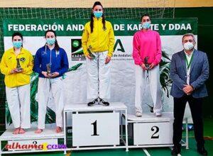 Alicia Correa tercera en el Campeonato de Andalucía de karate senior
