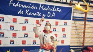 Paula Rodríguez, tetracampeona de Madrid de kárate