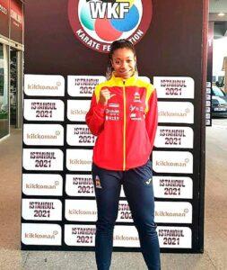 Isabel Nieto acudió a la Premier League con la selección