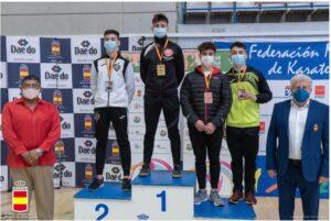 El berciano Diego Fuertes López logra un bronce en la Copa de España por estilos de karate en categoría junior