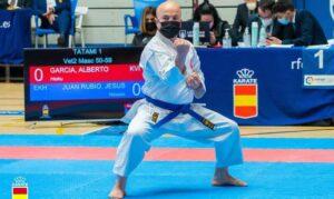 El karateka de Humanes Jesús Juan Rubio campeón de España de estilos de Kata Individual veteranos II