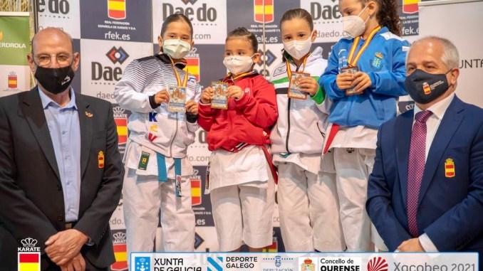 Resultados del Club Karate Osaka Badajoz en el Campeonato de España de Karate