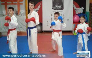 Cuatro karatecas compiten este fin de semana en el Campeonato de España tras el éxito en Cheste