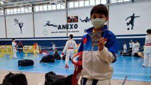 Yago García, del Gimnasio Picos de Móstoles, Campeón de España de Karate