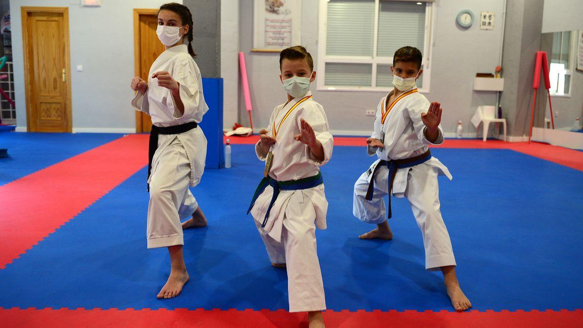 Mikel del Fresno, karateca placentino de mucho futuro