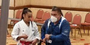 """Gaby Izaguirre cerró con tres ganes en el """"Pana"""" de Karate"""