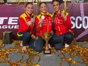 María López, del Club Karate Montornès, medalla de plata en Moscú